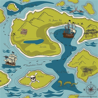 Pinterest Riley Blake Designs Pirate Matey Treasure Map C3120