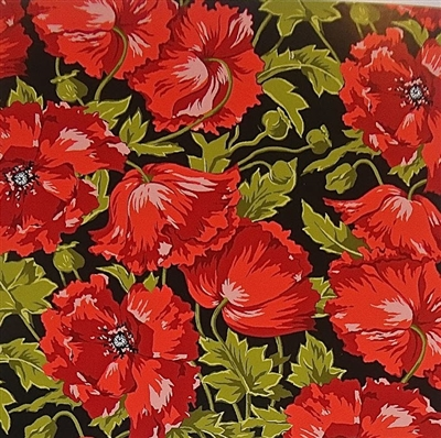 Henry Glass Poppy Patio Patt 6083 Col 89