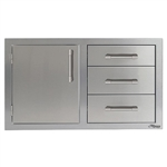"ALFRESCO 32"" Combo Door on Left and Triple Drawers (AXE-DDC-L-SC)"