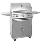 "BLAZE 3-Burner 25"" Grill with Cart (BLZ-3CARTPKG)"