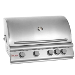 "BLAZE 4-Burner 32"" Built-in Grill with Rear Burner (BLZ-4)"