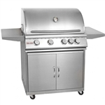 "BLAZE 4-Burner 32"" Grill with Cart (BLZ-4CARTPKG)"