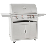 "BLAZE 4-Burner 32"" Grill with Lights Cart Package (BLZ-4LTE2CARTPKG)"