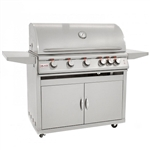 "BLAZE 5-Burner 40"" Grill with Lights Cart Package (BLZ-5LTE2CARTPKG)"