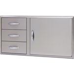 "BLAZE 39"" Access Door & Triple Drawer Combo (BLZ-DDC-39-R)"