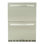 "BLAZE Double Drawer 24"" Outdoor Refrigerator (BLZ-SSRF-DBDR5.1)"