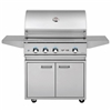 "DELTA HEAT 32"" Cart Grill with 3 SS Burners and Rot (DHBQ32R-D-CART)"