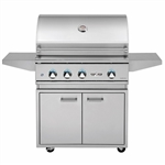"DELTA HEAT 32"" Cart Grill with Sear Zone and Rot (DHBQ32RS-D-CART)"