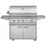 "DELTA HEAT 38"" Cart Grill with 3 SS Burners and Rot (DHBQ38R-D-CART)"