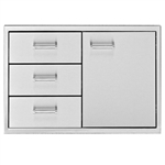 "DELTA HEAT 30"" Door / 3-Drawer Combo (DHDD303-B)"