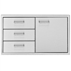 "DELTA HEAT 36"" Door / 3-Drawer Combo (DHDD363-B)"