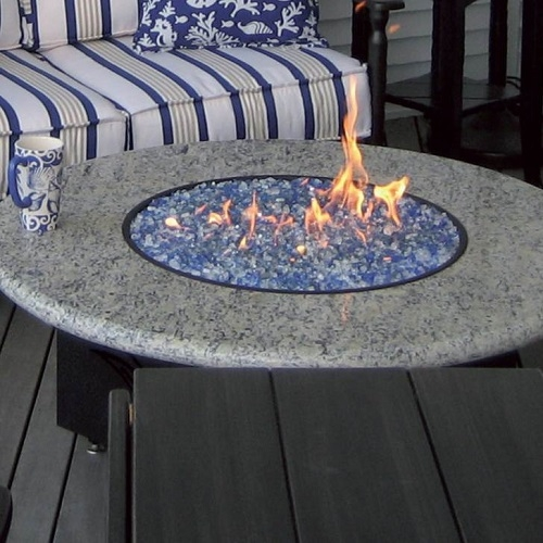 Oriflamme Granite 42 Round Fire Table