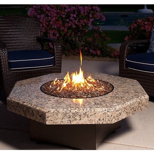 Oriflamme Granite 45 Octagon Fire Table