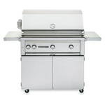 "SEDONA by Lynx 36"" L600-Series Grill with Three Stainless Steel Burners, Rotisserie and Cart (L600FR)"