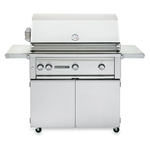 "SEDONA by Lynx 36"" L600-Series Grill with One ProSear1 Burner, Two Stainless Steel Burners, Rotisserie and Cart (L600PSFR)"