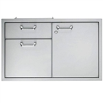 "LYNX Classic 30"" Storage Door and Double Drawer Combination Unit (LSA30)"