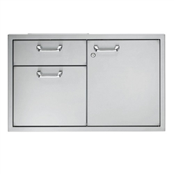 "LYNX Classic 36"" Storage Door and Double Drawer Combination Unit (LSA36)"