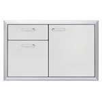 "LYNX Ventana 36"" Storage Door and Double Drawer Combination Unit (LSA36-4)"