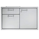 "LYNX Classic 42"" Storage Door and Double Drawer Combination Unit (LSA42)"