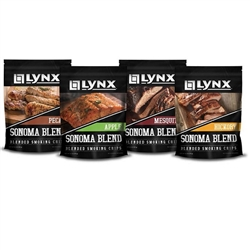 LYNX Sonoma Smoker Woodchip Blend FOUR PACK (LSCF)