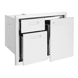 "LYNX Ventana 30"" Trash Center and Double Drawer Combination Unit (LTA30-4)"