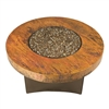 "ORIFLAMME Natural Hammered Copper 42"" Round Fire Table"