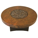 "ORIFLAMME Natural Hammered Copper 48"" Round Fire Table"