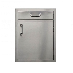 "PCM Stainless Steel 4"" Drawer above 21"" Single Access Door - Right Hinge (PCM-260-SDHDR21R)"