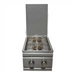 RCS Cutlass-Series Stainless Double Side Burner with Two 12,000 BTU Burners - Slide-In (RDB1)