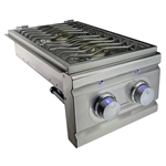 RCS Cutlass PRO-Series Stainless Double Side Burner with Two 12,000 BTU Burners - Slide-In (RDB1E1)