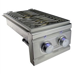 RCS Cutlass PRO-Series Lighted Double Side Burner with Two 12,000 BTU Burners - Slide-In (RDB1EL)