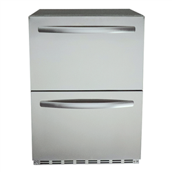 RCS Stainless Two-Drawer Refrigerator (REFR4​)