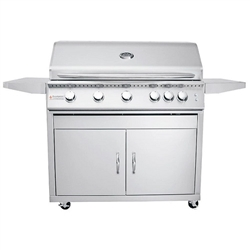 "RCS Premier-Series 40"" Freestanding Gas Grill with Lights (RJCLC40AL)"