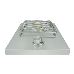 RCS Stainless Drop-in Side Burner with One 12,000 BTU Burner (RSB1)