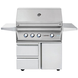 "TWIN EAGLES 36"" Deluxe Cart Grill with 3 Burners and Rot (TEBQ36R-C-DCART)"
