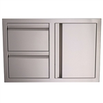 "RCS 33"" Valiant Stainless Double Drawer/Door Combo (VDC1)"