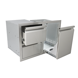"RRCS 33"" Valiant Stainless Double Drawer/Propane Drawer Combo (VDCL1)"