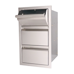 "RCS 17"" Valiant Double Drawer and Paper Towel Holder (VTHC1)"