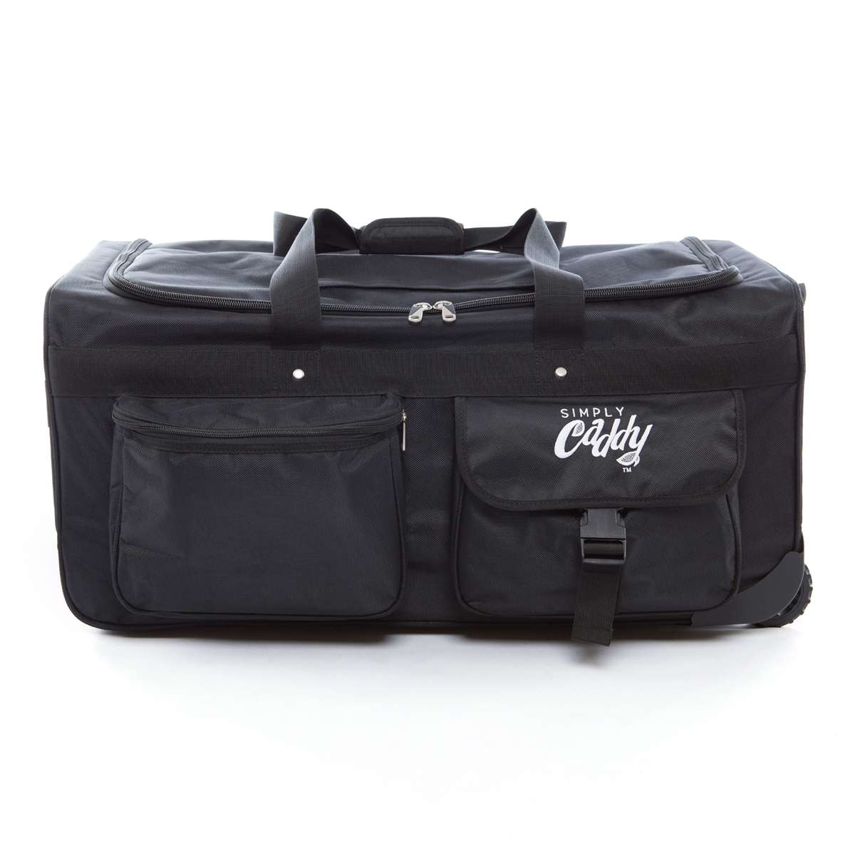 The Caddy Bag Is Ultimate Duffel With Wheels And A Side Hanging Garment Rack