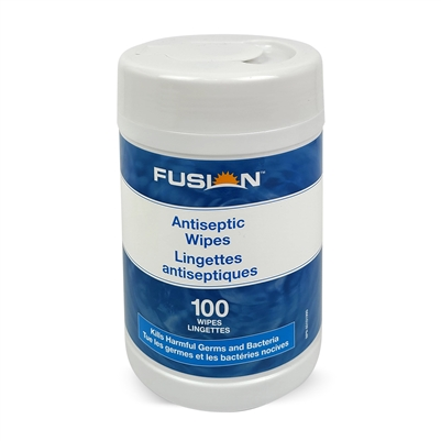 Fusion Antiseptic Alcohol Wipes, 100 wipes/Canister