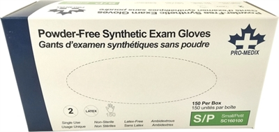 Vinyl Powder-Free Gloves; Small (100)