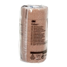 "3M Coban Self-Adherent Wrap, 1"" x 5 yd (5/pack )"