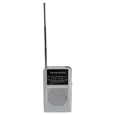 AM/FM Radio (2 AAA batteries not included)