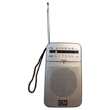 AM/FM Radio (2 AA batteries not included)