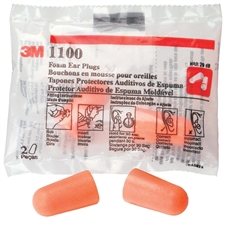 3M Brand #1100 Foam Ear Plugs NRR29db