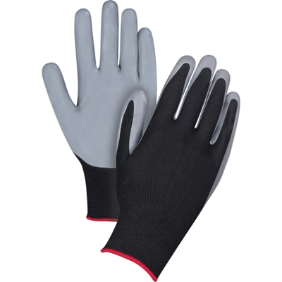 Black Nitrile Coated Gloves (1 pair)