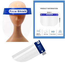 clear protective face shield