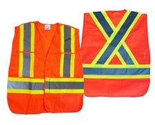 High Visibility Safety Vest (Orange Mesh)