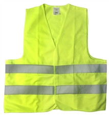 Solid Traffic Vest with reflective strips