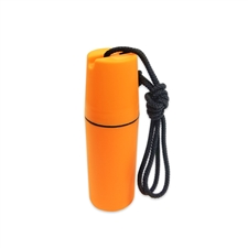 Waterproof Orange Plastic Case w/Lanyard